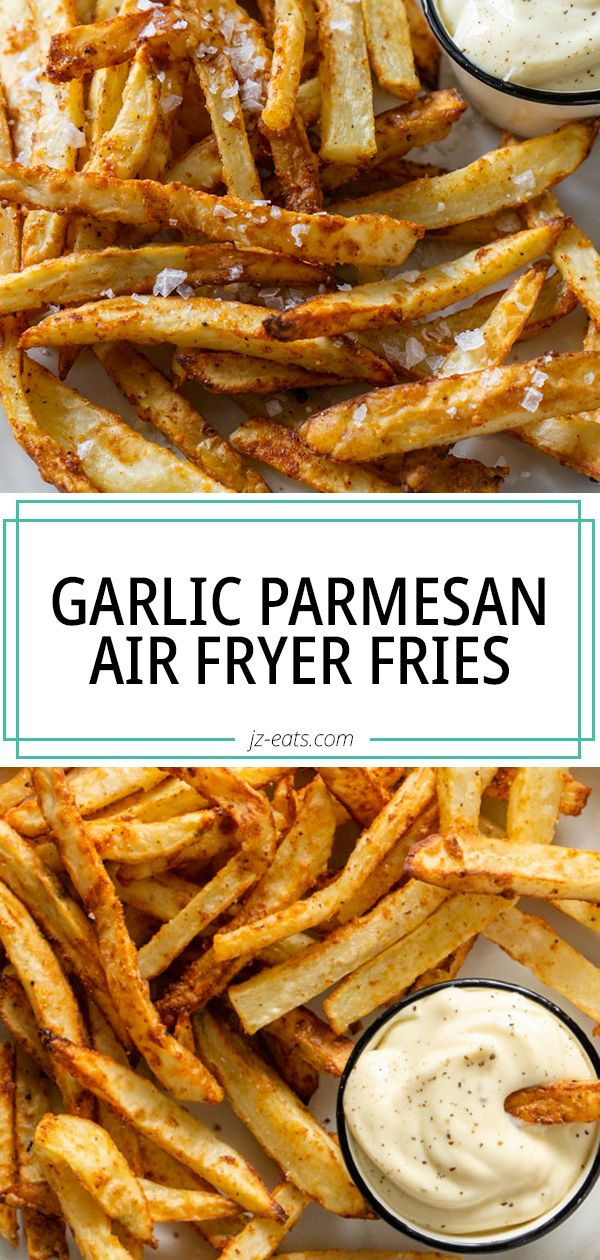 Jun 15, 2020 – Homemade Garlic Parmesan Fries made in the air fryer are a quick and easy side dish for every meal. These…