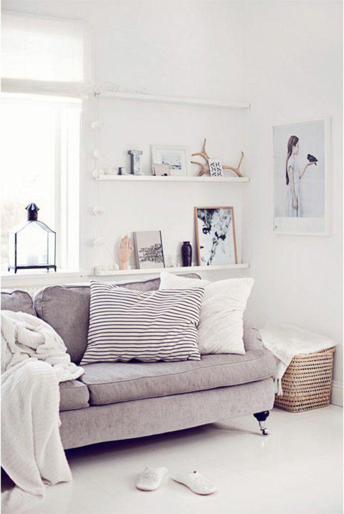 gros coussin pour canapé de couleur gris