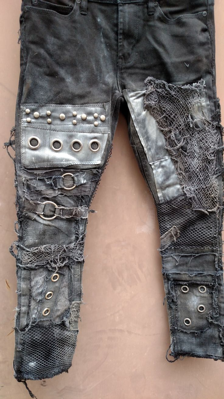 Mad Max Skinny fit Post Apocalyptic doomsday Jeans by UniqueNightmares on Etsy https://www.etsy.com/listing/184039551/mad-max-skinny-fit-post-apocalyptic