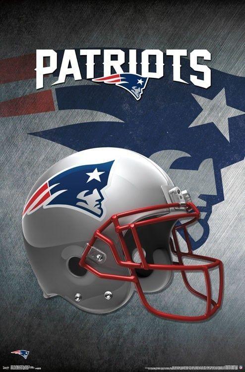 ac42bf9b6c8ab New England Patriots Poster Football Wall Art Print (22x34)