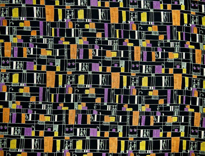 "Alicja Wyszogrodzka, MDM printed clothing fabrics, produced by the ""First"" Rudzka Dye and Finishing Shop in Ruda Pabianicka, 1955, collections of the National Museum in Warsaw, photo: Michał Korta"