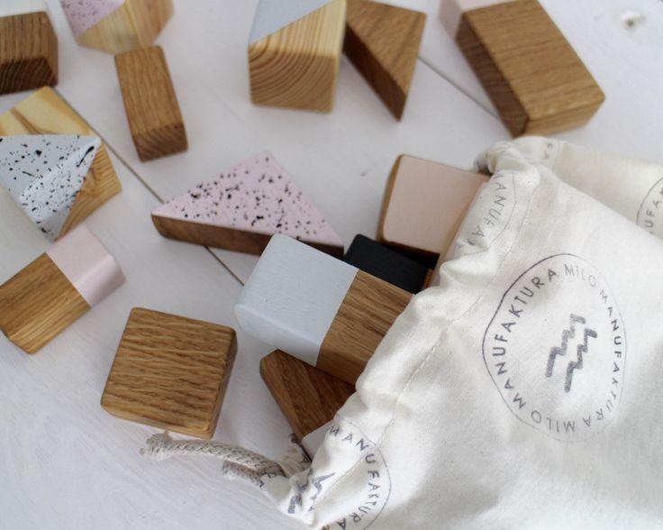 handmade wooden blocks by manufakturamilo.pl