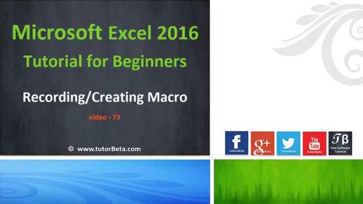72    Creating Simple Excel Macro   Microsoft Excel 2016 Beginner Course