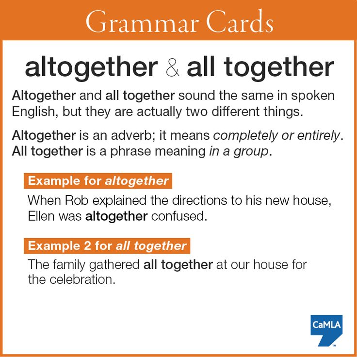 """altogether"" and ""all together"""