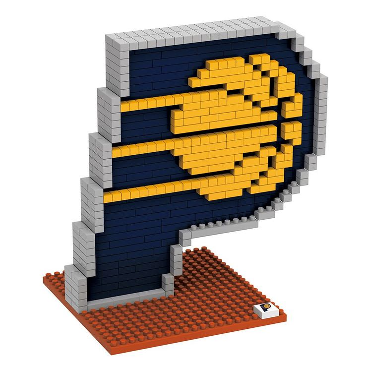 Forever Collectibles Indiana Pacers Brxlz 3D Logo Puzzle Set, Multicolor