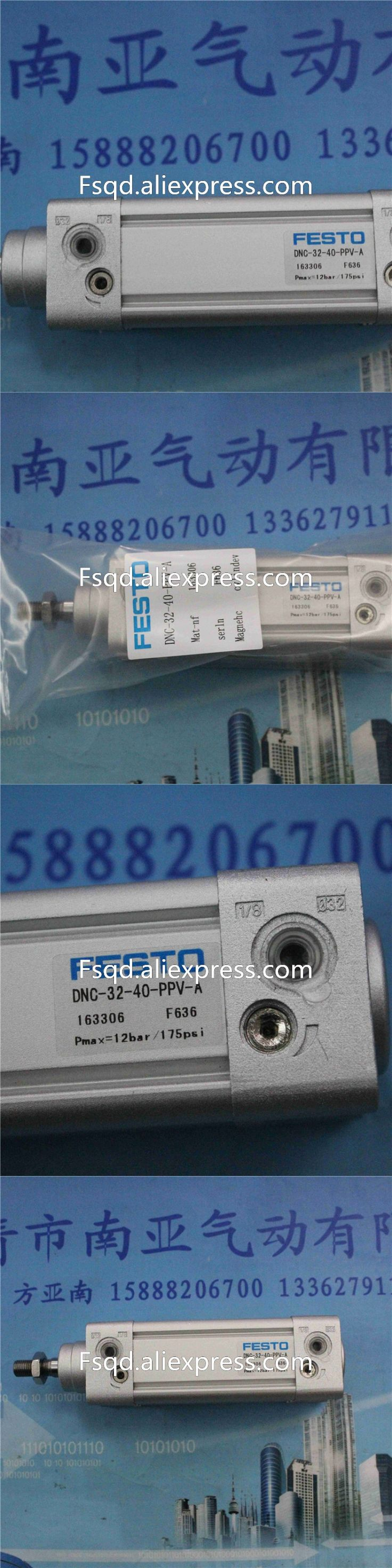 DNC-32-40-PPV-A  FESTO thin cylinder piston cylinder pneumatic components pneumatic tools