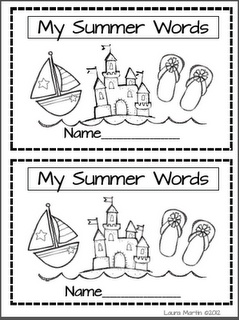 summer words booklet free