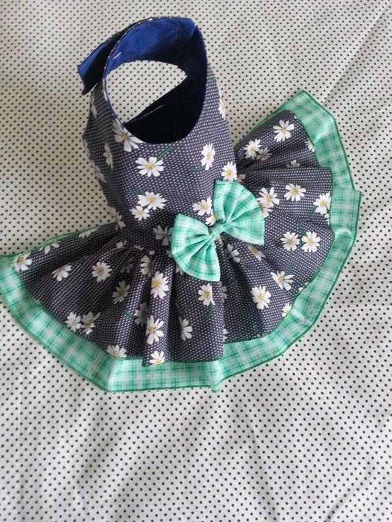 Small dog Daisy Dress clothes Summer Yorkie by TeddyFaceDogClothes