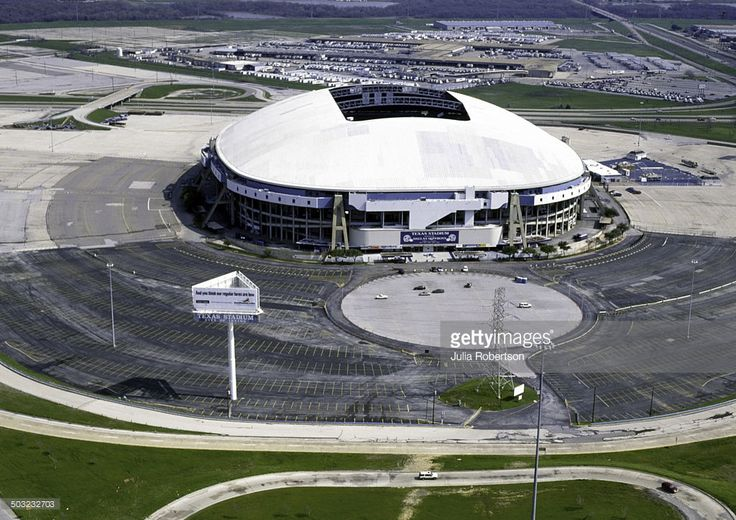 Aerial view of the original Texas Stadium, home of the Dallas Cowboys.