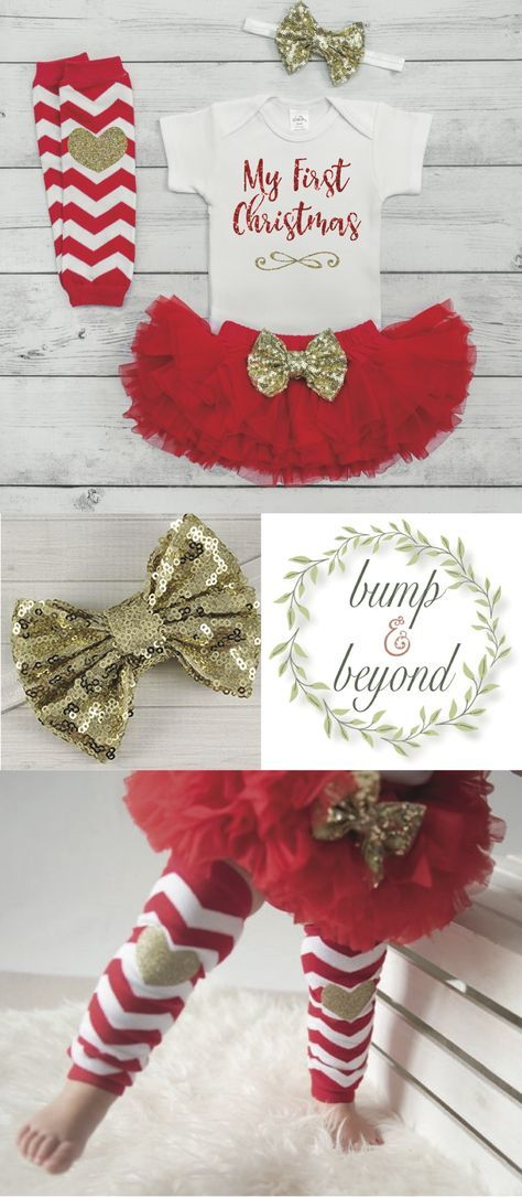 Christmas Baby Girl Outfit Set 1st Christmas Baby Girl Outfit Christmas Baby Outfit Newborn Christmas Outfit Infant Coming Home Outfit