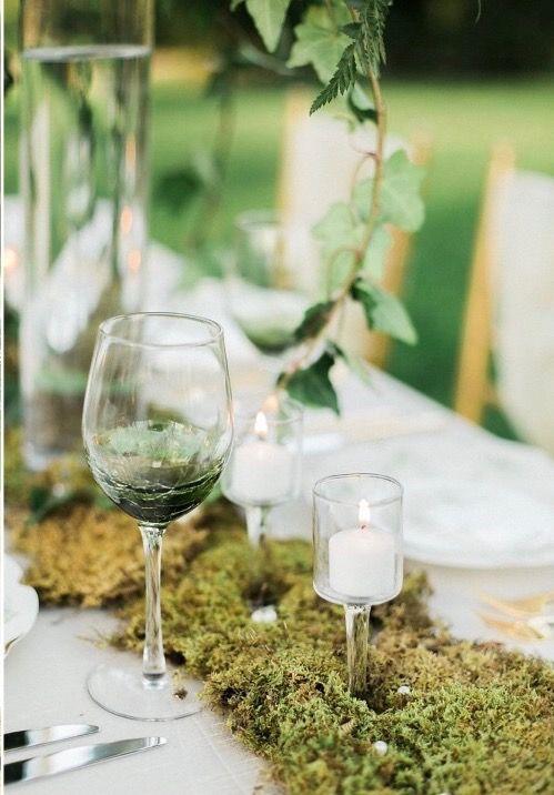 Chic Vintage Brides Moss Garden Wedding Table Runner - Chic Vintage Brides :… Moss Garden Wedding Table Runner.