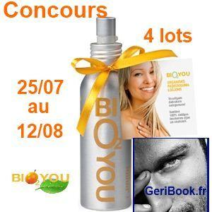 CONCOURS 4 auto bronzants Bio aux huiles naturelles et argousier Bio2You  http://www.geribook.fr/?p=2183