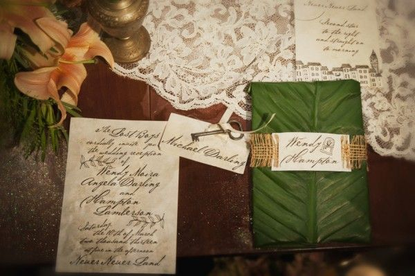Peter Pan Wedding Inspiration http://lissahatcher.com/