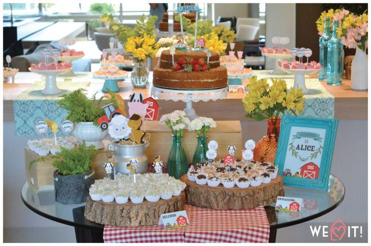 Festa em casa: Fazendinha | Festa colorida e cheia de detalhes pra fazer uma festa linda com o tema fazendinha