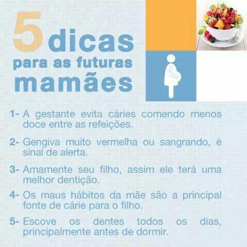5 Dicas para as futuras mamães.