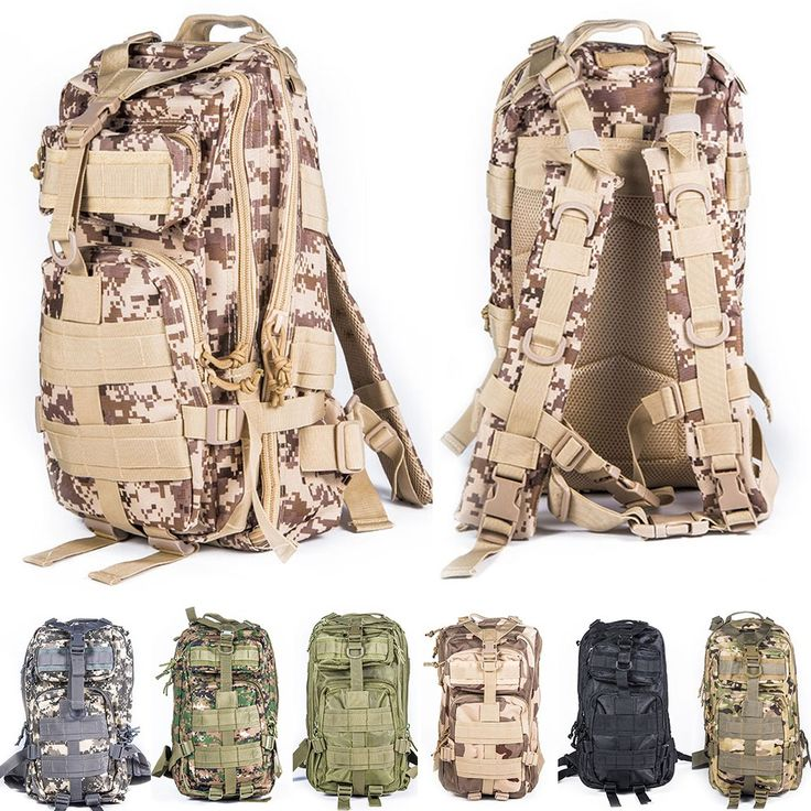 Military Tactical Molle Rucksack Travel Backpack Outdoor Sports Camping Hiking Survival Pack Camouflage Airsoft Hunting Bag //Price: $42.99 & FREE Shipping //     #tacticalgear #survivalgear #tactical #survival #edc #everydaycarry #tacticool #hunting #camping #outdoors #pocketdump #knives #knifeporn  #knife #army #gear #freedom #knifecommunity #airsoft