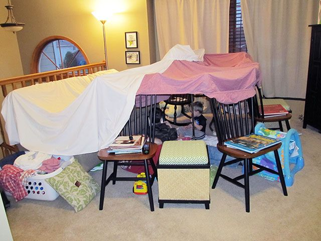 i always used to make a fort!