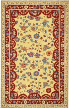 French Country 150    Hand Hooked Wool Rug With French Country Theme.