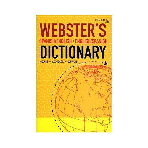 WEBSTER Spanish-English / English-Spanish Dictionary