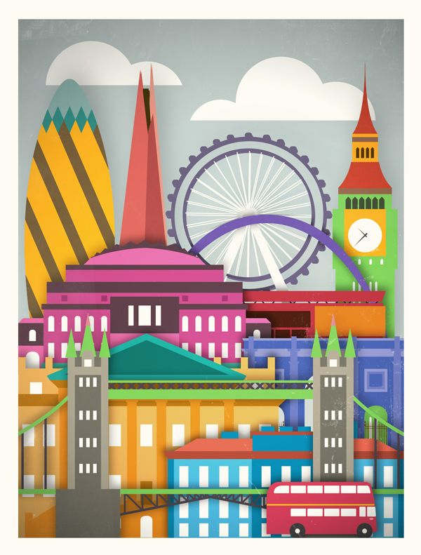 Moxy Creative House presents Touristique, a collection of five illustrated posters highlighting some of the most famous metropolitan architecture in the world.