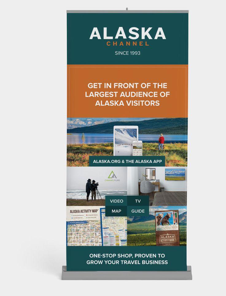 Travel tradeshow banner design for Alaska Channel