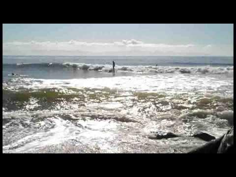 Surfing at Sombrio Beach near Sooke and Port Renfrew, BC