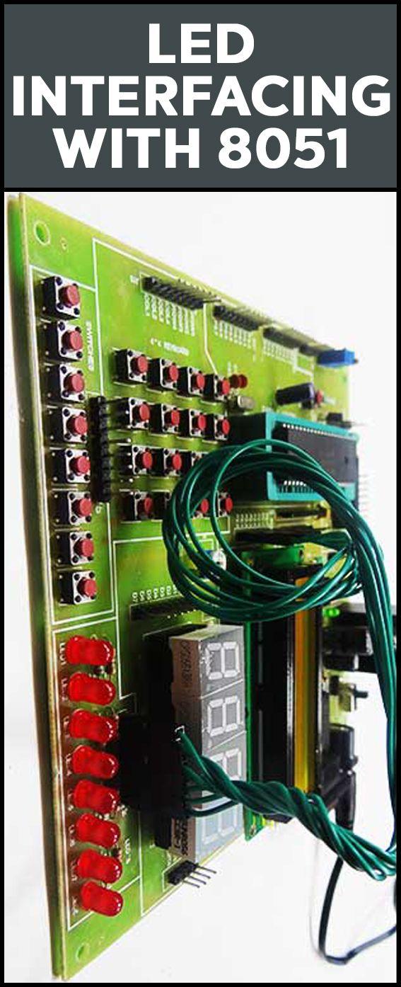 Interfacing Led With 8051 Microcontroller Circuit Electronicshub Light Emitting Diode Diagram Circuits And