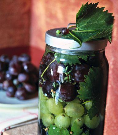 Uva in barattolo speziata