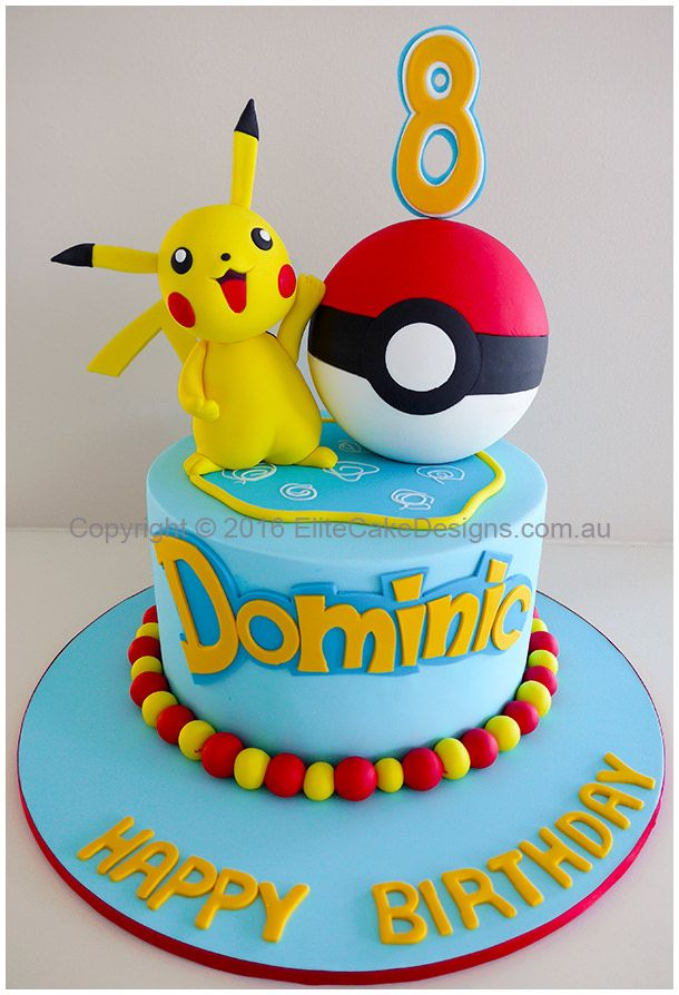 Amazing Pokemon Theme Kids Birthday Cake Design