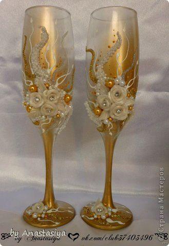 Декор предметов Свадьба Золотой набор и еще залы   фото 6