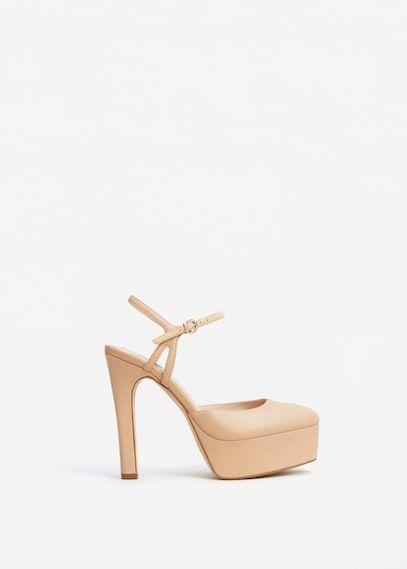 Leren schoenen met plateauzolen