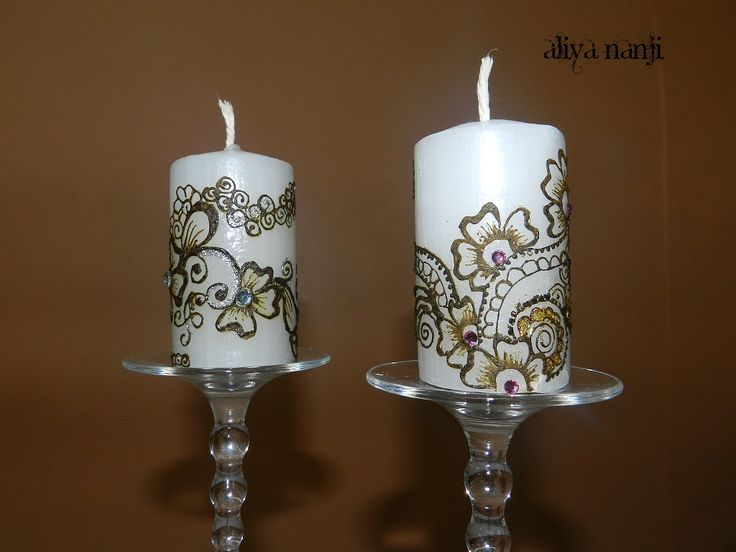 Simple henna designs on candles only for £7.99 each