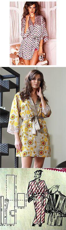 Халат-кимоно.Выкройка