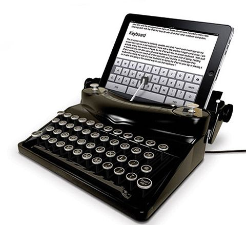iPad with Typescreen. I would probably buy one for my iPod Touch! You sit your iPad in the Typescreen and you type using the keys on the typewriter. lostateminor.com/author/zolton