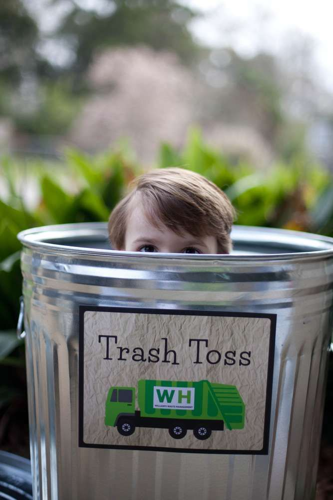 Garbage Truck Birthday Party Ideas | Photo 1 of 48 | Catch My Party