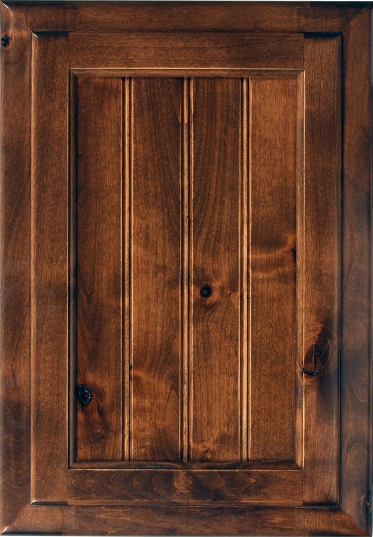 knotty hickory cabinets - we like this color