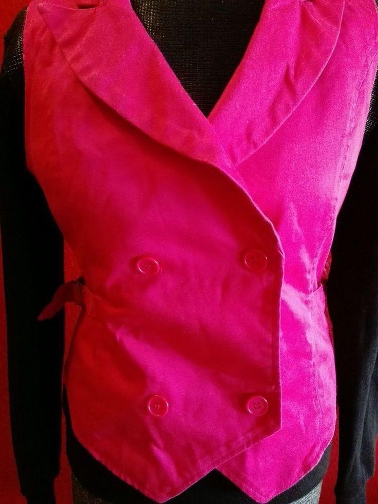 Damenweste Sakko Weste Jeans Pink Rosa  38 M wie neu in Kleidung & Accessoires, Damenmode, Westen | eBay!