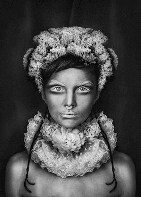 LisaLove Bäckman - In between, portrait, black & white photo art, prints & posters