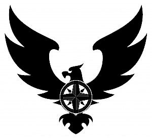 Made this quickly, combining bird of prey with compass heart. Tattoo design. Only foreseeable problem is slight similarity to Aryan brotherhood bird lol... Looks cool though.