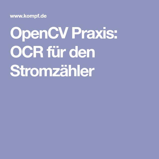 OpenCV Praxis: OCR für den Stromzähler