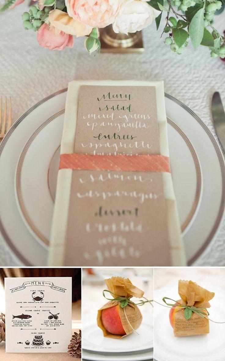 Creative Wedding Menus The Best Menu Ideas Yes Baby Daily