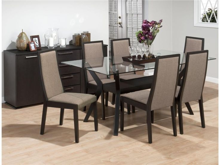 17 best ideas about Glass Dining Room Sets on Pinterest Black