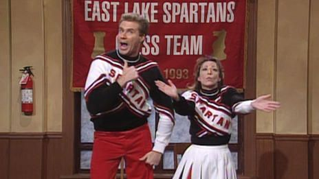 back when life was good & SNL was actually funny....Craig (Will Ferrell) and Arianna (Cheri Oteri) break into their high school gym hours early to practice for the Spartan Cheerleader tryouts, because making the squad is their number one goal. [Season 23, 1997]