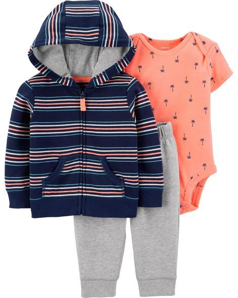 eaa1df6ae 3-Piece Little Jacket Set | Products | Carters baby boys, Jogger ...