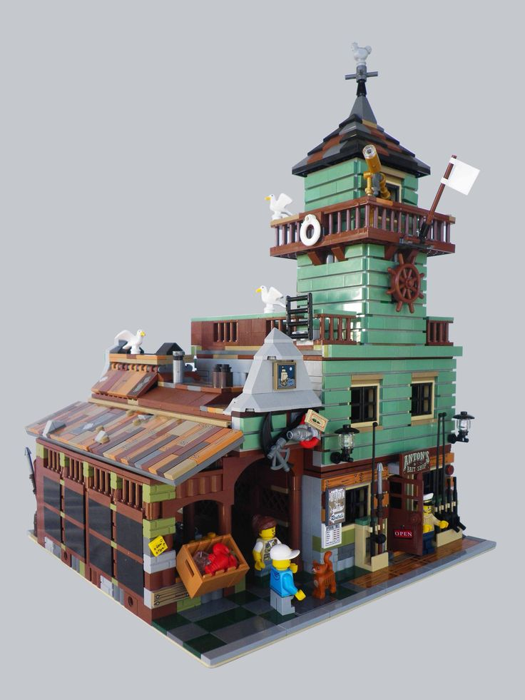 Custom Modular Anton's Fish Market - Alternate to official LEGO set 21310 Old Fishing Store