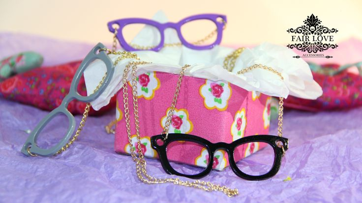 Collar gafas de colores