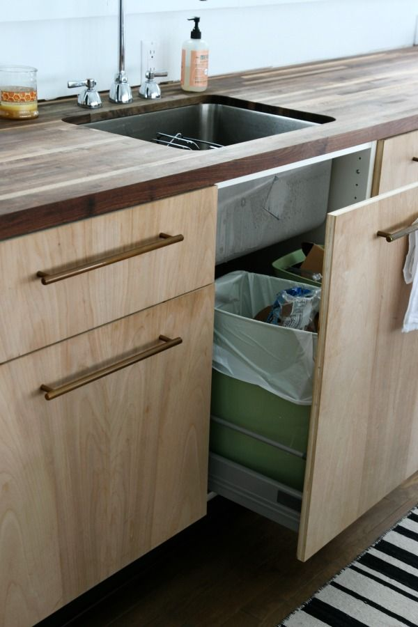 Ikea Cabinets And Drawers With Custom Furniture Grade Plywood Fronts