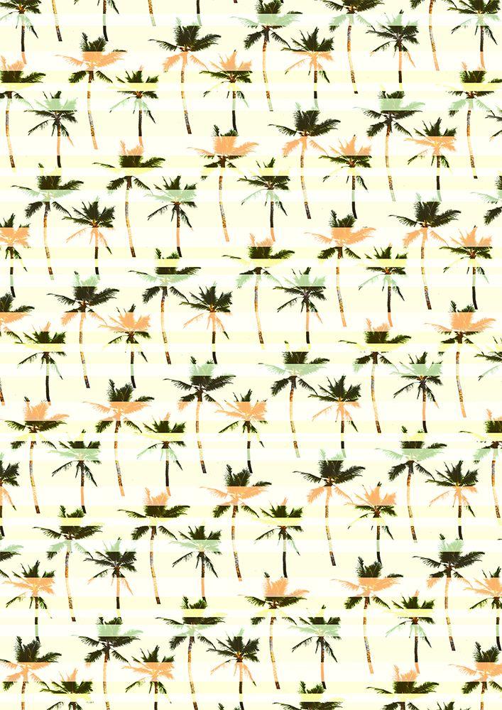 striped palms print pattern