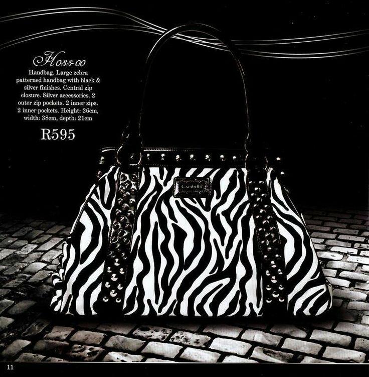 Zebra stripped bag - popular seller..