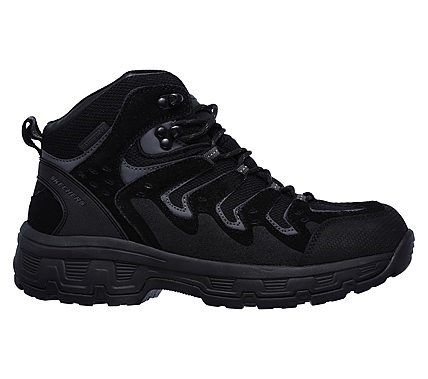 Skechers Men's Relaxed Fit Morson Gelson Waterproof Lace Up Boots (Black)